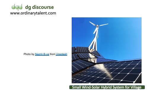 A small wind-solar hybrid system can supply round the clock power to the remote places away from the grid.